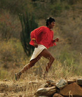 The Tarahumara Indians described in 'Born to Run' are incredible ultra athletes who run large distances in nothing but sandals.